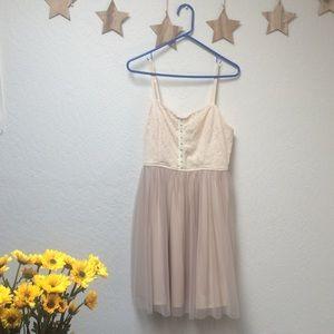 Xhilaration Lace and tulle dress
